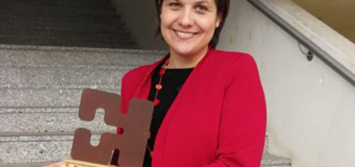 Ruth Benito, de la firma ELZABURU, una de las premiadas por la Agencia Vasca de Protección de Datos 2