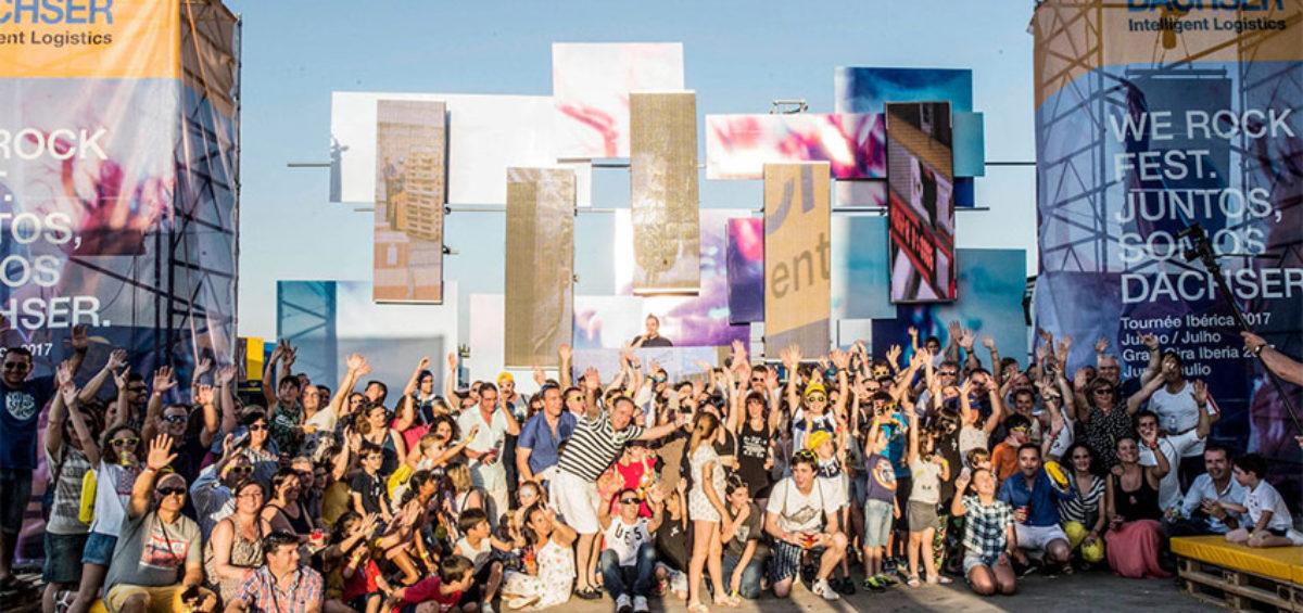 """Dachser Iberia gana el premio 'Proyecto del Año 2018' por su festival """"We Rock Fest"""" 2"""