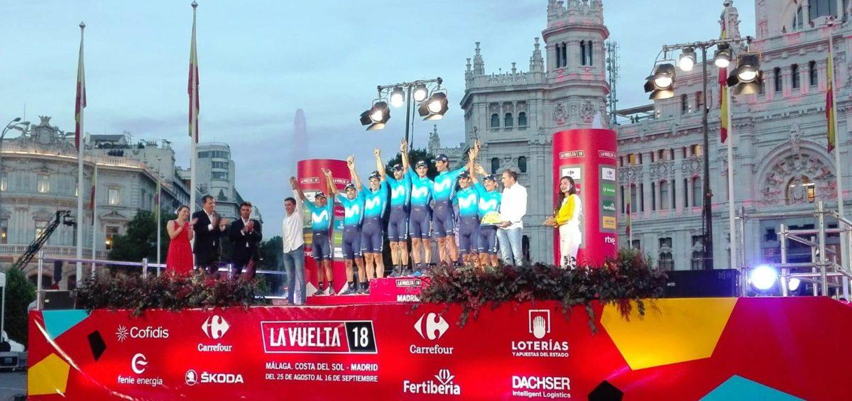 Movistar recibe por 10º año el premio Dachser al Mejor Equipo de La Vuelta 16