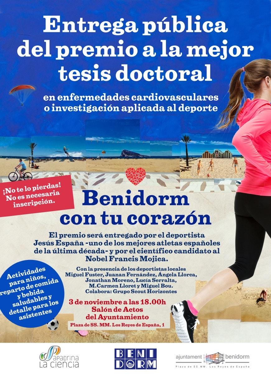 La asociación Apadrina la Ciencia entrega el Premio Benidorm Con Tu corazón a la mejor tesis doctoral 3