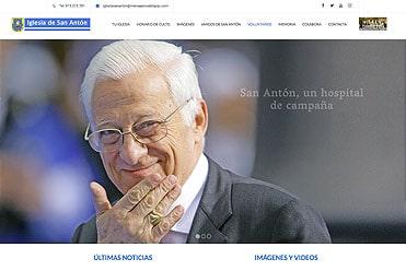 diseño web de la iglesia san anton