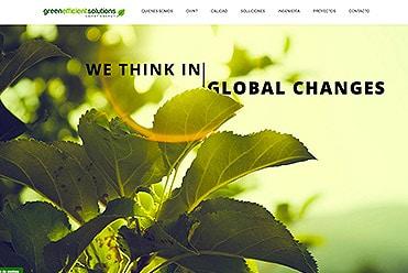 Diseño web Green Efficient