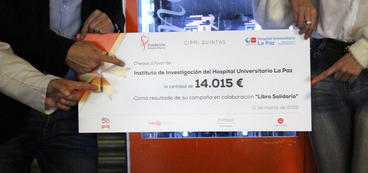 donación al hospital la paz