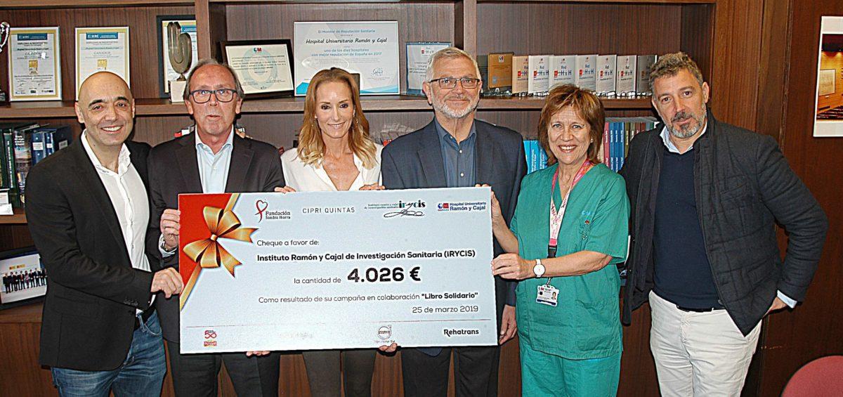 """La Fundación Sandra Ibarra dona 4.026€ al Hospital Ramón y Cajal a través de su campaña 'Libro Solidario"""" 16"""