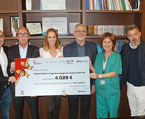 """La Fundación Sandra Ibarra dona 4.026€ al Hospital Ramón y Cajal a través de su campaña 'Libro Solidario"""" 2"""