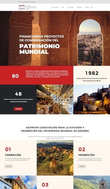 Diseño web ADIPROPE