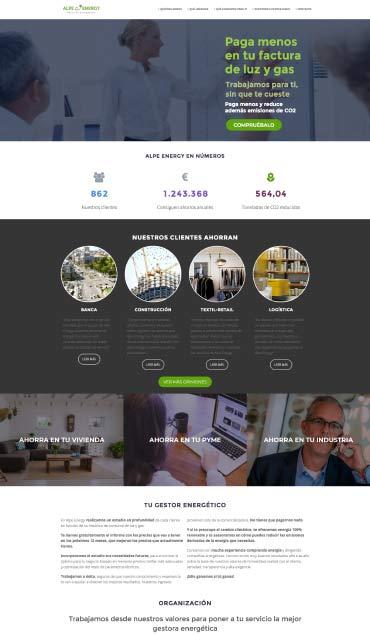 Diseño web de la página Alpe Energy