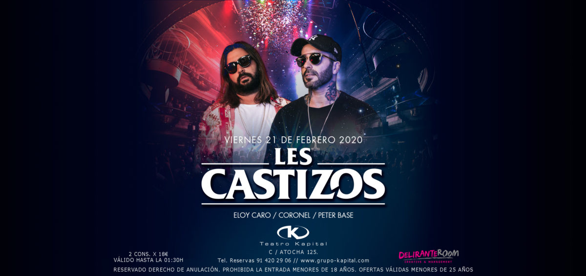 Teatro Kapital presenta la sesión de Les Castizos  y el nuevo single de Chema Rivas para este fin de semana 2
