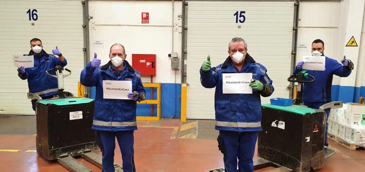 Dachser trabaja junto al Gobierno Vasco en la lucha contra el Coronavirus 14