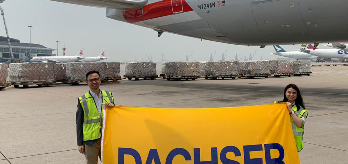 Dachser organiza su 30º vuelo chárter para mascarillas respiratorias y material médico 2