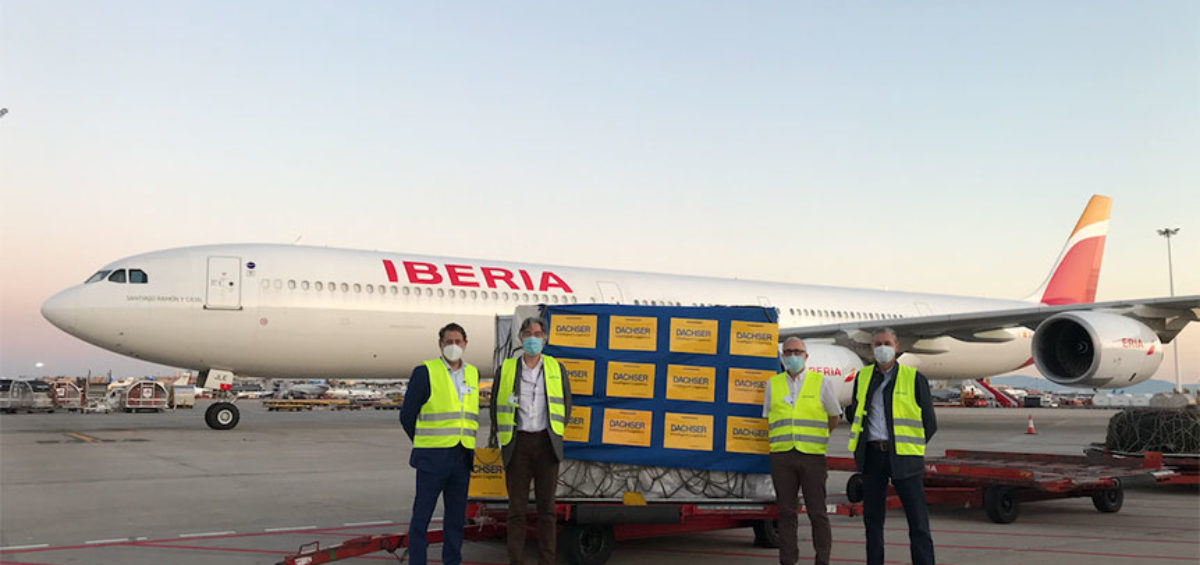 Dachser organiza un vuelo chárter directo de China a España con material médico 10