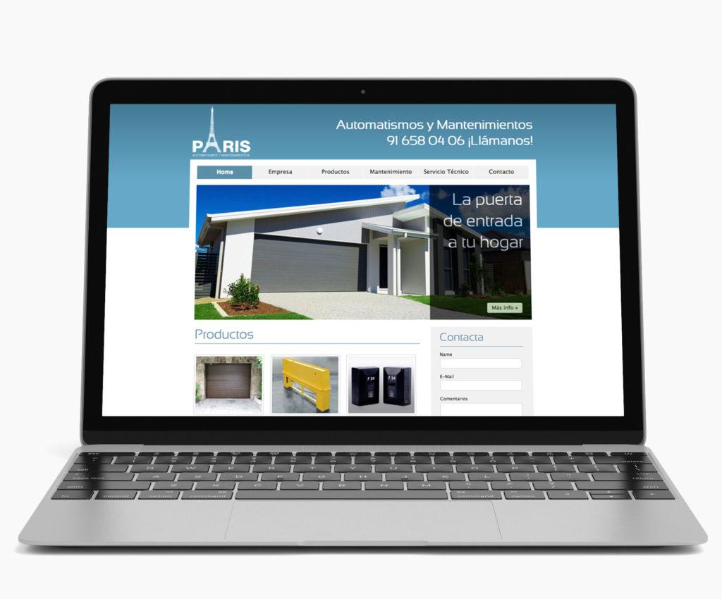 Diseño de página web para empresa de automatismos