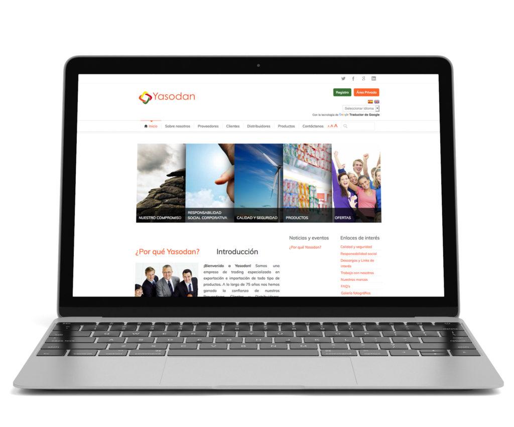 Desarrollo web de la página yasodan