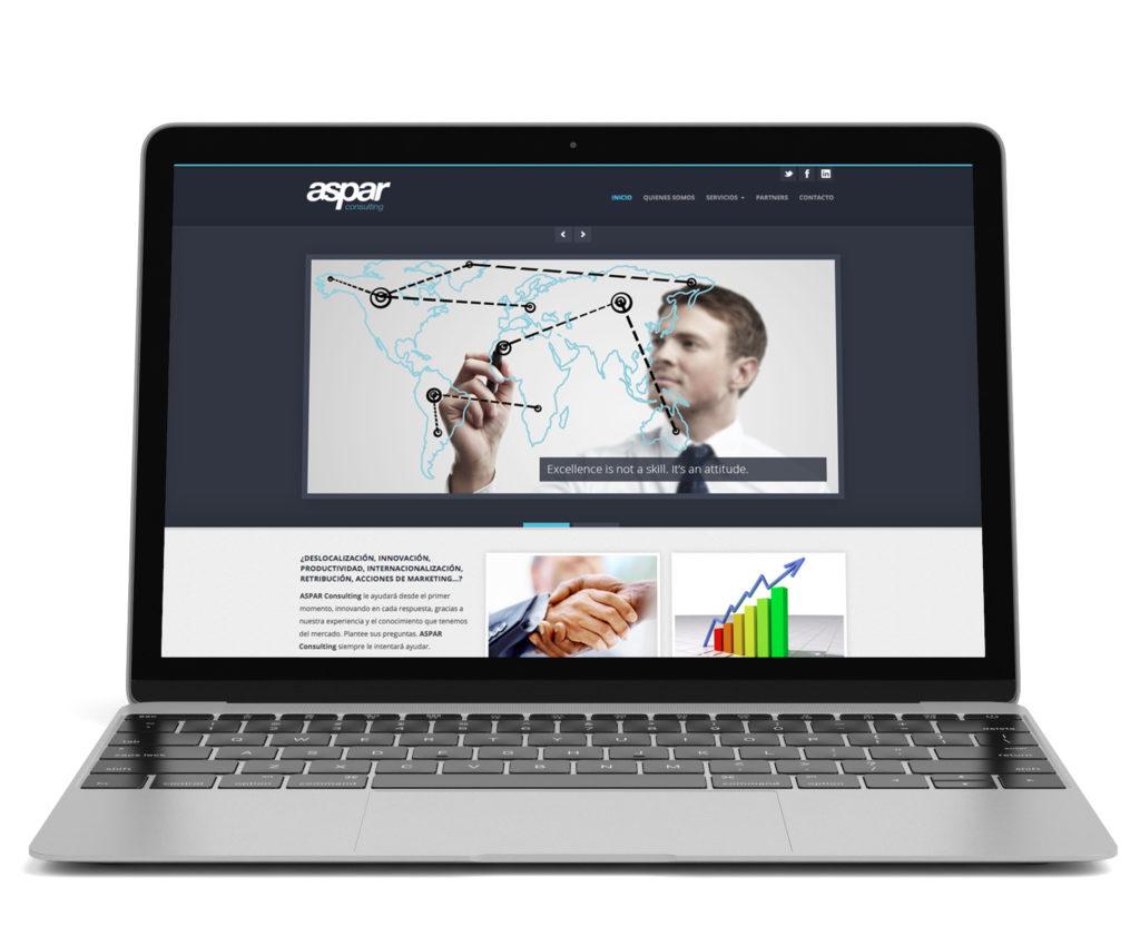 Desarrollo y diseño web para aspar consulting