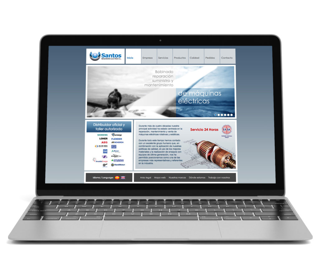 Diseño web para Santos maquinaria