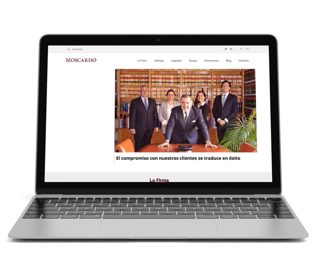 Diseño y desarrollo web de moscardo legal