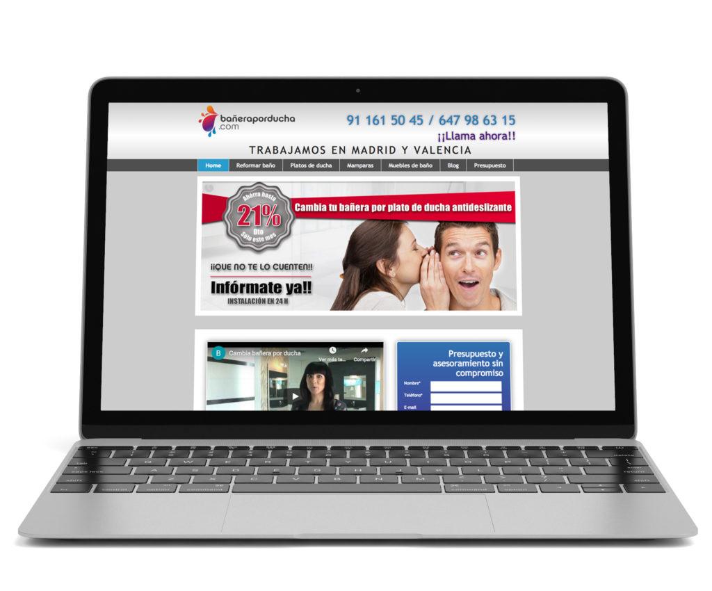 paginas web para bañera por ducha